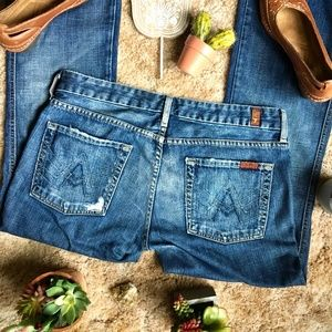 """{7 for all Mankind} """"A Pocket"""" Boot Cut Jeans, 31"""